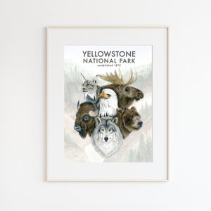 Yellowstone Wildlife Poster