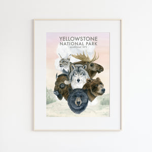 Yellowstone Wildlife Park Poster