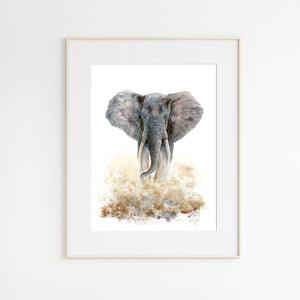 Adult Elephant Watercolor Print