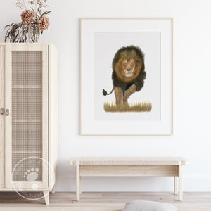 Male Lion Decor