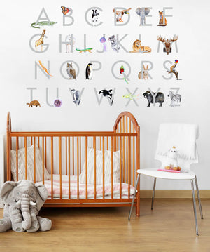 Animal Alphabet Fabric Wall Decals