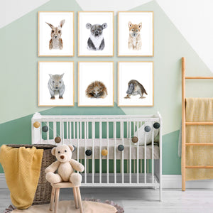 Australian Nursery Baby Animal Prints