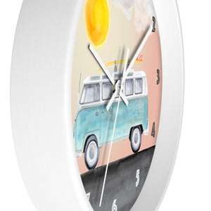 Volkswagon Camper Van Clock Side View