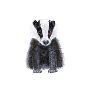 Baby Badger Nursery Print