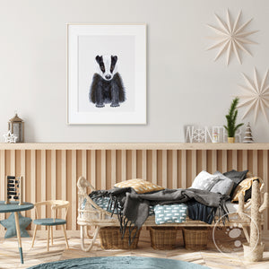 Baby Badger Wall Print