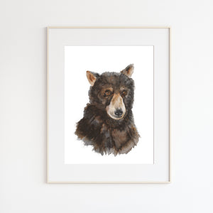 Baby Bear Watercolor Print