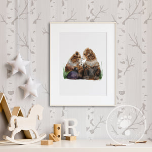 Woodland Animal Family Print