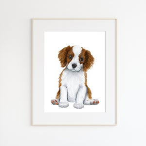 King Charles Cavalier Puppy Print