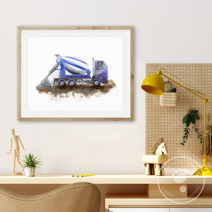 Cement Mixer Wall Art