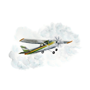 Cessna Watercolor Print