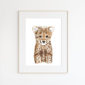 Cheetah Nursery Print