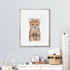 Baby Cheetah Safari Print