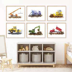 Construction Truck Kids Room Decor