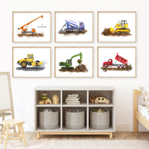 Construction Truck Boy Room Decor