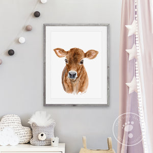 Brown Calf Kids Room Decor