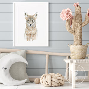 Coyote Wall Art for Nursery