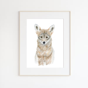 Baby Coyote Nursery Art