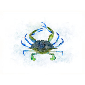 Maryland Crab Watercolor Print