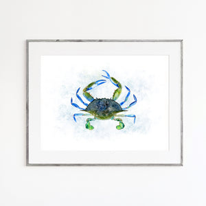 Maryland Blue Crab Watercolor