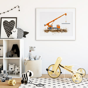 Crane Truck Wall Decor