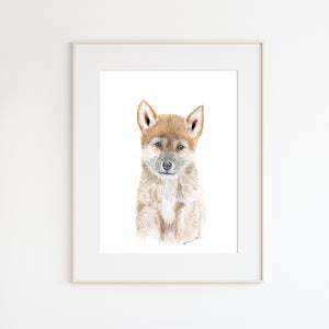 Dingo Watercolor Wall Art