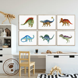 Dinosaur Kids Room Print Set
