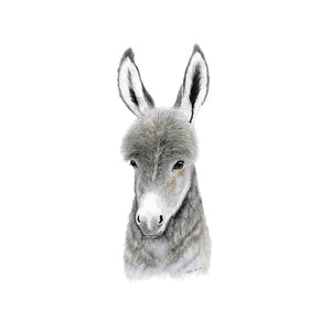 Donkey Watercolor Print