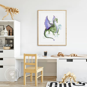 Dragon Playroom Art Print