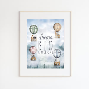 Dream Big Little One Nursery Art
