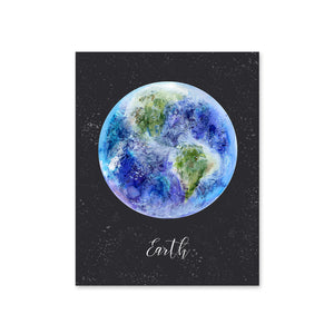 Night Sky Planet Earth Nursery Art