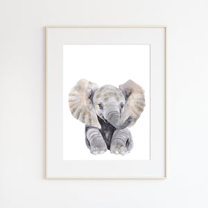 Sweet Baby Elephant Nursery Decor