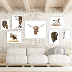 Longhorn Steer Portrait as part of farmhouse gallery