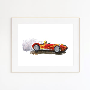 F1 Ferrari Illustration