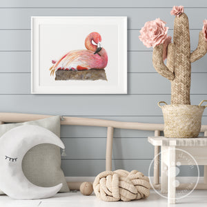 Pink Flaming Nursery Decor