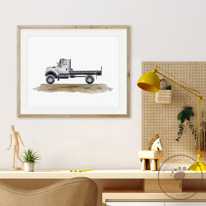Flatbed Truck Print