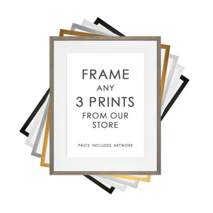 Any 3 Prints Framed