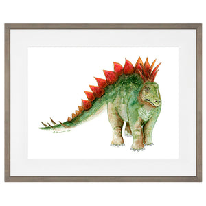 Set of 4 Framed Dinosaur Art Prints