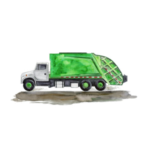 Garbage Truck Wall Art