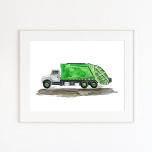 Green Garbage Truck Illlustration