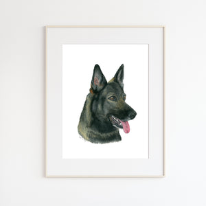 Police Dog Wall Art