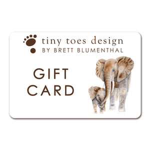 Tiny Toes Design by Brett Blumenthal Gift Card