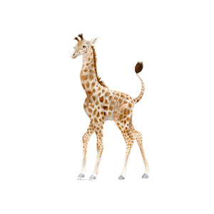 Giraffe Watercolor Nursery Decor
