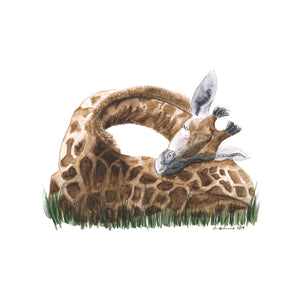 Baby Sleeping Giraffe Nursery Decor