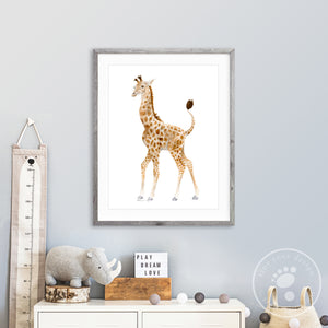 Baby Giraffe Watercolor Print