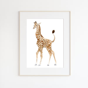Giraffe Watercolor Nursery Art