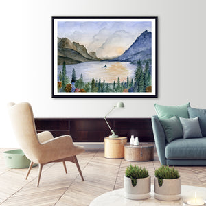 Glacier National Park Art Framed
