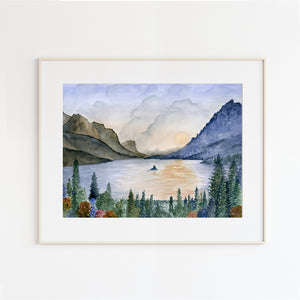 Glacier National Park - St. Mary's Lake Landscape Painting