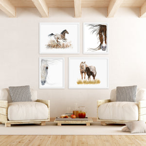 Farmhouse Horse Print Set