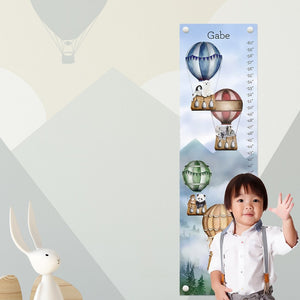 Animals in Hot Air Balloon Growth Chart