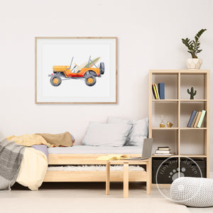 Vintage Jeep Wall Art